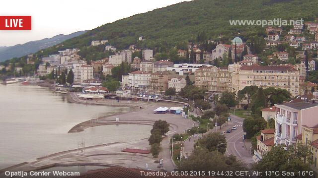 Opatija webcam - Opatija Center Live webcam, Primorje-Gorski kotar, Kvarner Bay